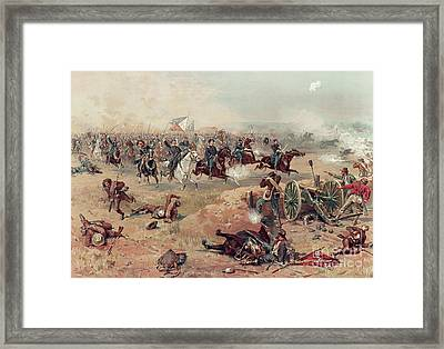 Sheridan's Final Charge At Winchester Framed Print by Thure de Thulstrup