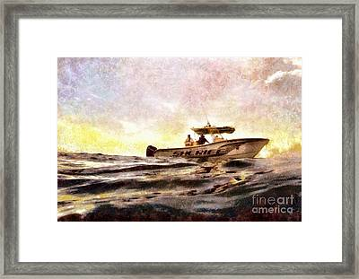 Sheriff At Sea - Florida Framed Print by Janine Riley