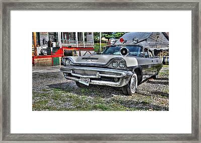 Sheriff Car 1 Framed Print by Todd Hostetter