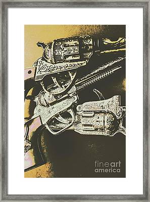 Sheriff Guns Framed Print by Jorgo Photography - Wall Art Gallery