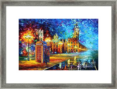 Detective And Big Ben Framed Print by Three Second