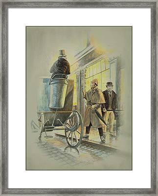 Sherlock Holmes At The Northumberland Framed Print by Tony Hough