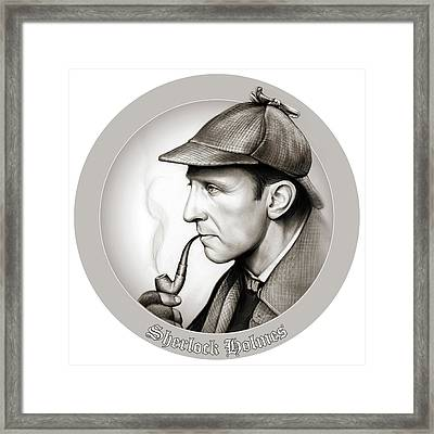 Sherlock Holmes Framed Print by Greg Joens