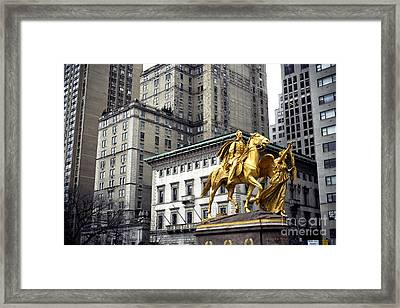 Sherman In The Grand Army Plaza Framed Print by John Rizzuto
