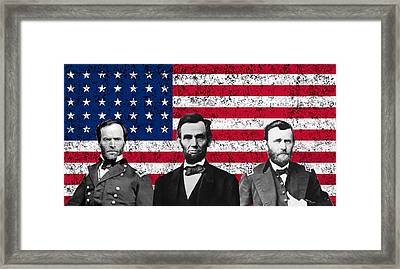 Sherman - Lincoln - Grant Framed Print by War Is Hell Store