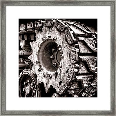 Sherman Tank Drive Sprocket Framed Print by Olivier Le Queinec