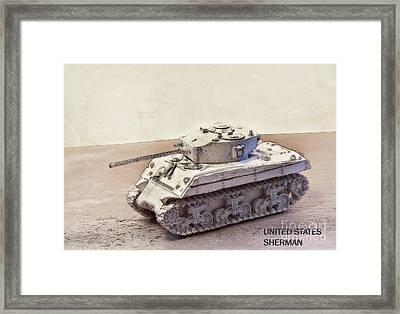 Sherman Tank Framed Print