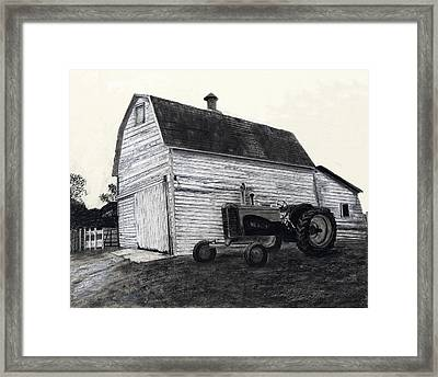 Sherry's Barn Framed Print by Bryan Baumeister