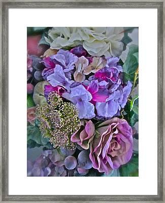 Sherry's Silks Framed Print by Gwyn Newcombe