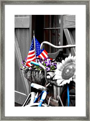 She's A Grand Old Flag Framed Print by Greg Fortier