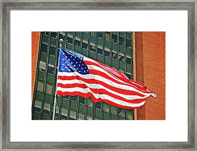 She's A Grand Old... Framed Print by Jame Hayes