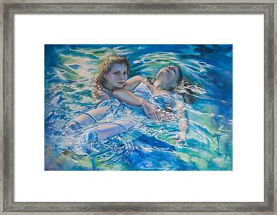 She's Not Heavy Framed Print by Gilly Marklew