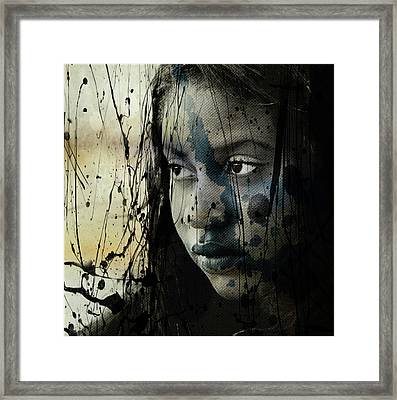 Framed Print featuring the mixed media She's Out Of My Life  by Paul Lovering