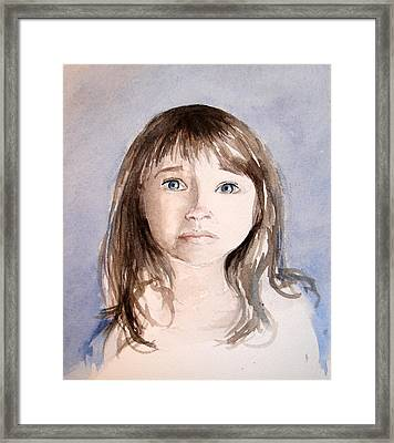 Framed Print featuring the painting She's Sad by Allison Ashton