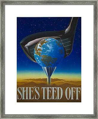 She's Teed Off Framed Print