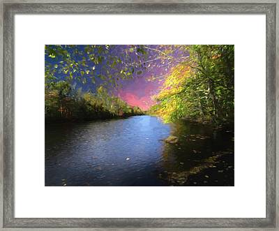 Shetucket River Ct. Framed Print