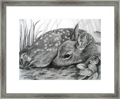 Framed Print featuring the drawing Shhhhh... by Meagan  Visser