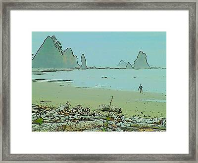 Shi Shi Beach And Patrick Framed Print