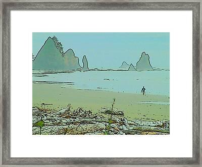 Shi Shi Beach And Patrick Framed Print