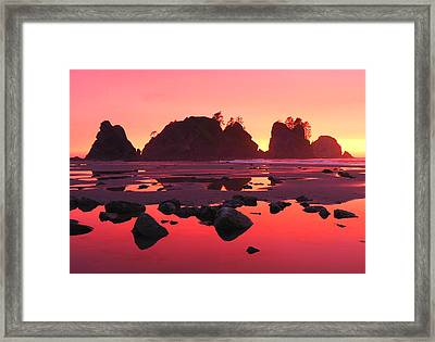 Shi Shi Sunset Framed Print