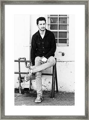 Framed Print featuring the photograph Shia Labeouf by Ron Dubin