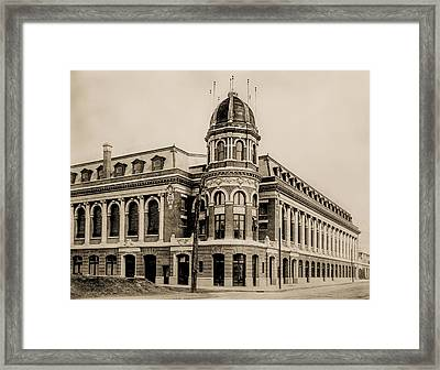 Shibe Park 1913 In Sepia Framed Print by Bill Cannon