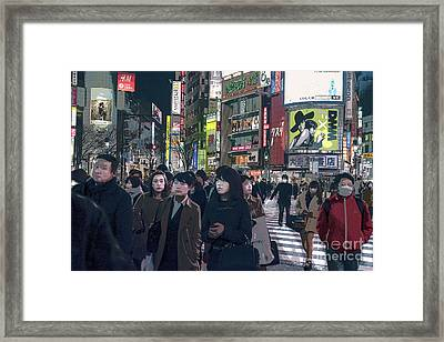 Shibuya Crossing, Tokyo Japan Poster 2 Framed Print