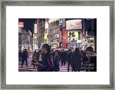 Shibuya Crossing, Tokyo Japan Poster 3 Framed Print