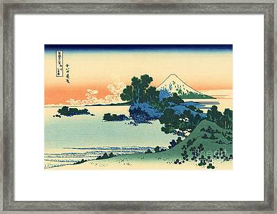 Shichiri Beach In Sagami Province Framed Print by Hokusai