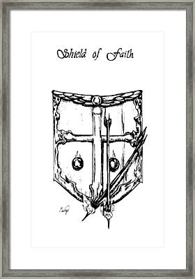 Shield Of Faith Framed Print by Maryn Crawford