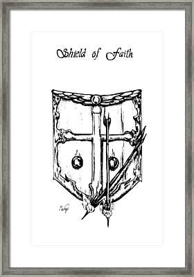 Shield Of Faith Framed Print by Maryn Crawford