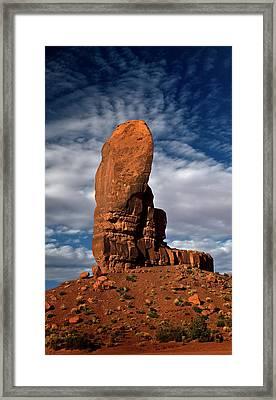 Shield Rock Framed Print by Murray Bloom