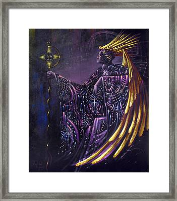 Shielded By Ineffable Names Thus I Rule Framed Print by Stephen Lucas