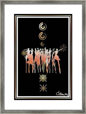 Women Chanting - Shieldmaidens Framed Print