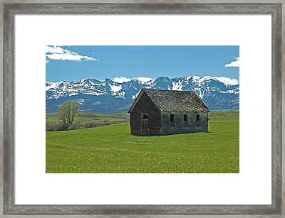 Shields Valley Abandoned Farm Ranch House Framed Print by Bruce Gourley