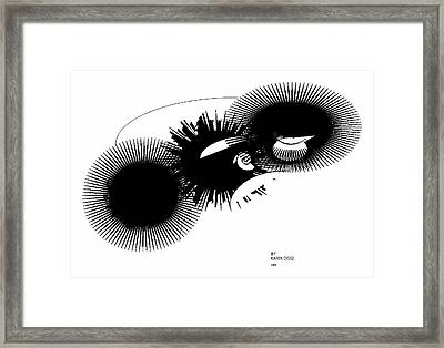 Shift Framed Print by Karen Diggs