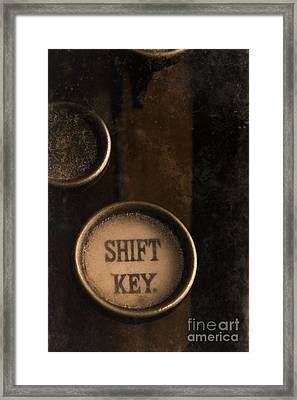 Shift Key Framed Print
