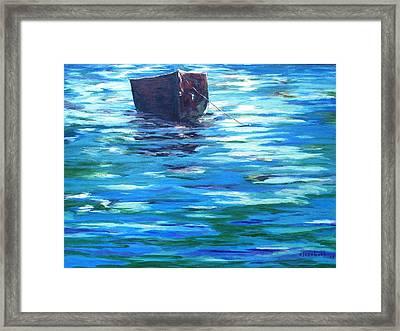 Shifting Boat Framed Print by Beth Maddox