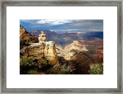Shifting Shadows Framed Print