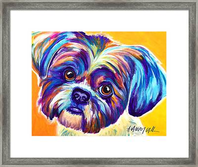 Shih Tzu - Dreamy Framed Print by Alicia VanNoy Call