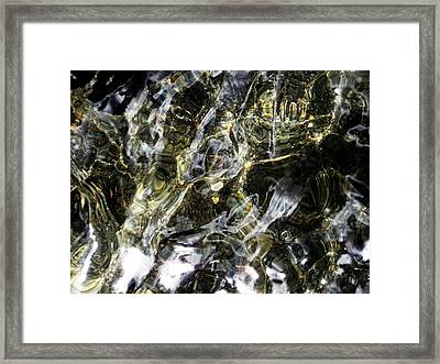 Shimmering Pool Framed Print by Virginia Young