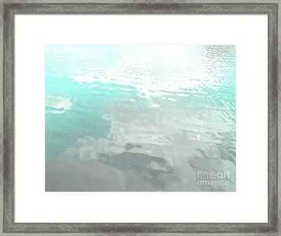 Let The Water Wash Over You. Framed Print