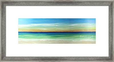 Shimmering Sunset Framed Print