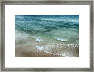 Shimmering Tide Framed Print by Judy Hall-Folde
