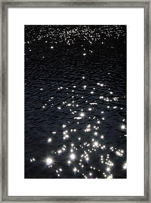 Shimmering Water Bolt Lake Denmark Wisconsin Framed Print by Laura Pineda