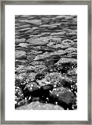 Shimmering Waters In Spring Framed Print
