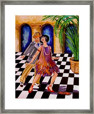 Shimmy-shake Framed Print by Carol Allen Anfinsen