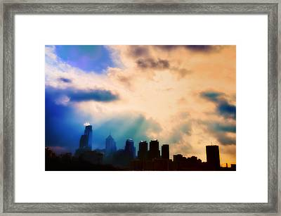 Shine A Light Framed Print by Bill Cannon