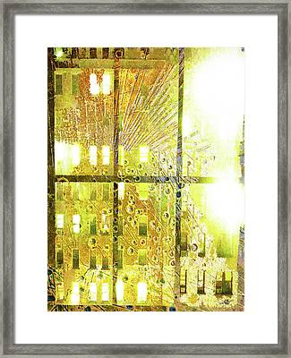 Framed Print featuring the mixed media Shine A Light by Tony Rubino