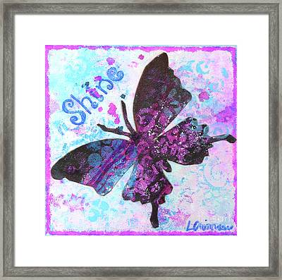 Shine Butterfly Framed Print